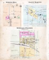 Spring Hill, Saint Martin, Kimball Prairie, Stearns County 1896 published by C.M. Foote & Co